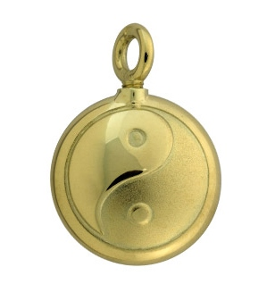 Assieraad Yin Yang goud