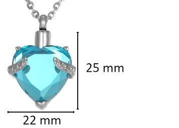 ashanger hart met steen te koop blauw gedenksieraad