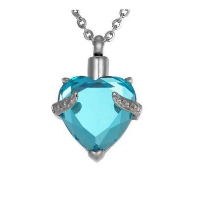 ashanger hart met steen te koop gedenksieraad