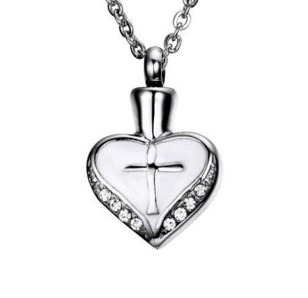 ashanger kruis in hart te koop rvs gedenksieraad