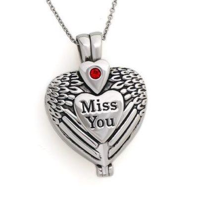 hartvormige ashanger miss you sieraad