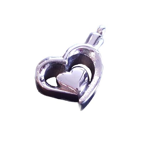 RVS ashanger dubbel hart