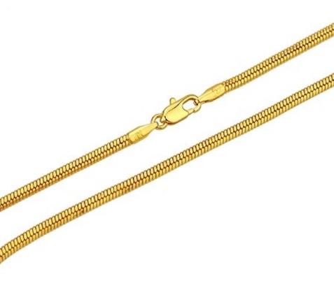 Ronde ketting goud