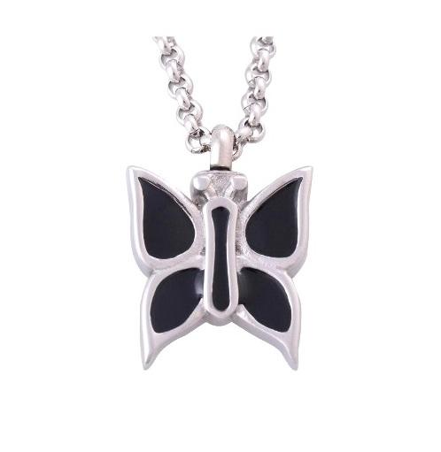 ashanger vlinder zwart te koop gedenksieraad