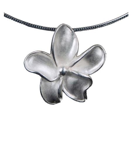 assieraad bloemetje zilver