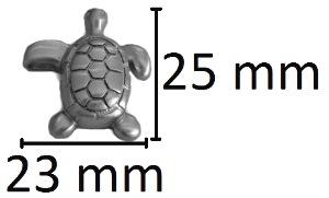ashanger schildpad gedenksieraad rvs