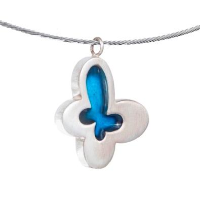 assieraad blauwe vlinder