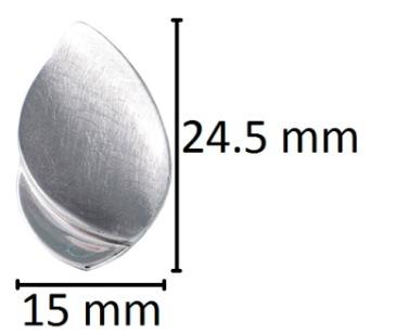 assieraad druppel ashanger zilver