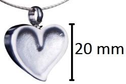 assieraad leeg hart gedenksieraad zilver