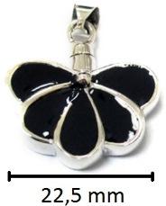 sieraad vlinder ashanger gedenksieraad