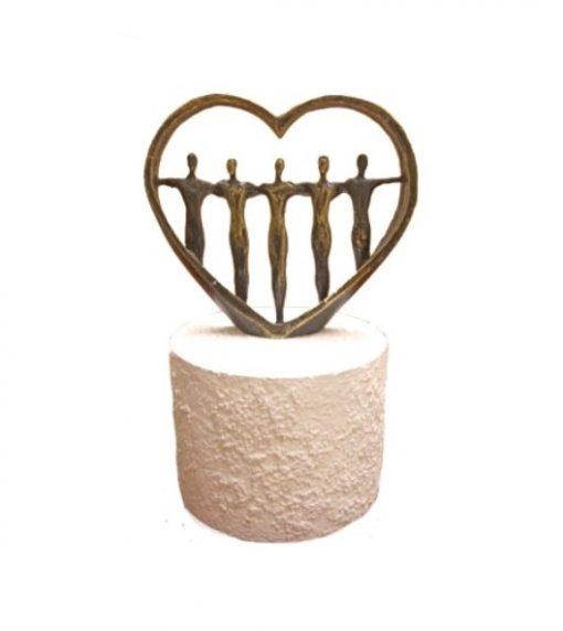 mini urn hart beeld