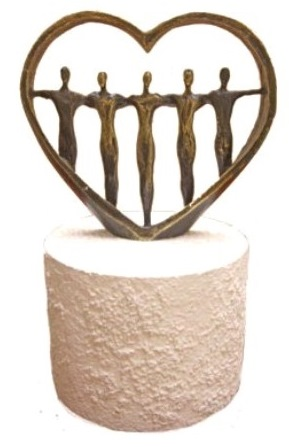 mini urn hart beeld te koop
