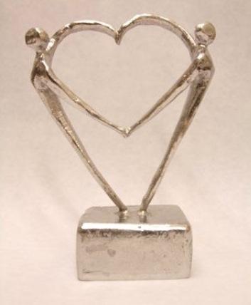 mini urn hart beeldje gedenk