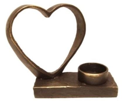 mini urn met waxinelichthouder hart