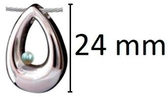 ashanger druppel traan zilver