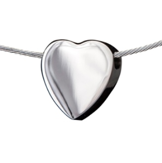gedenksieraad hart zilver