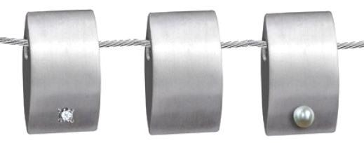 gedenksieraad rechthoekig zilver