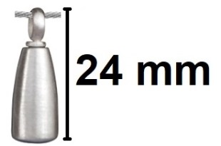 assieraad flesje zilver gedenksieraad