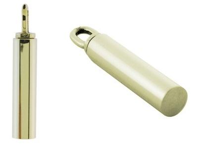 gouden assieraad buisje cilinder hanger