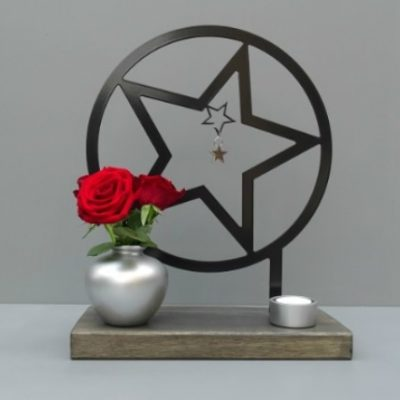 gedenkteken ster herdenkkunst binnen huis