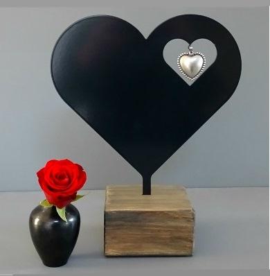 kunsturn hart herdenkbeeldje te koop