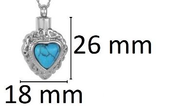 ashanger blauw hart steentje te koop