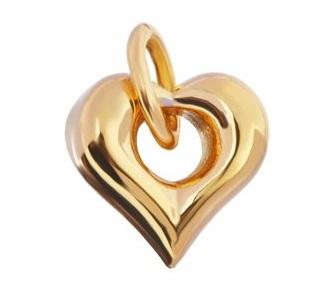 gedenksieraad open hart te koop goudkleurig