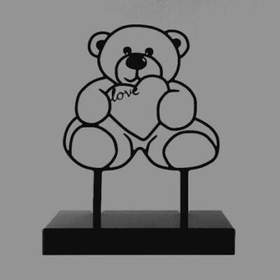 urnbeeld teddybeer kind gedenkplek