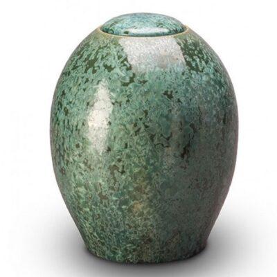 groene keramische urn te koop