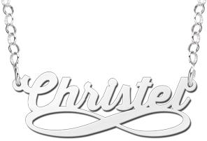 infinity naamketting kopen zilver