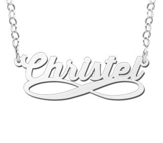 infinity naamketting te koop zilver